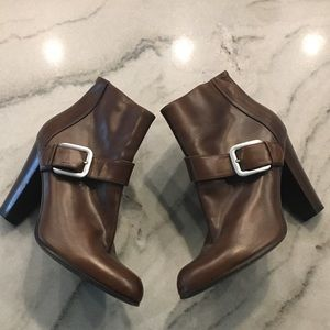Cole Haan//ankle booties with silver buckle, 7